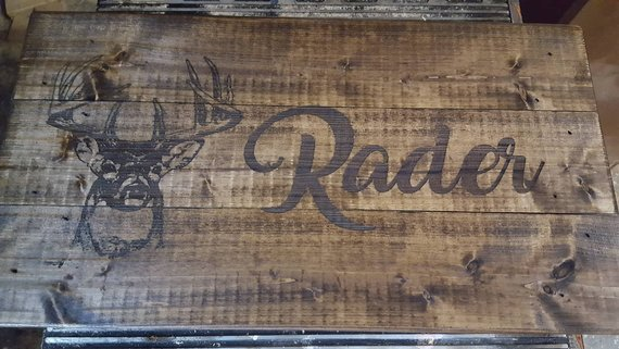 Deer Hunting Custom Sign Rustic Personalized Wooden Plaque Home Decor Hunter Farm House Gift For Men