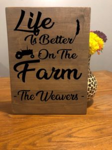Farmhouse Decor Sign, Life Is Better On The Farm, Farm Decor, Farm Sign, Barn Sign, Wooden Sign, Wall Decor, Country, Rustic, Last Name Sign