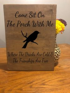 Come Sit On The Porch Sign, Customized Laser Engraved Sign, Porch Sign, Patio Decor, Porch Rules, Rustic Sign, Rustic Home Decor Sign
