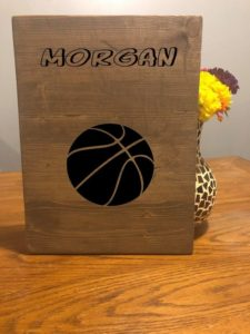 Basketball Custom Wood Name Sign Engraved, Basketball Lover, Sports Lover,Basketball Wall Art, Girls – Boys Basketball, Basketball Coach NBA