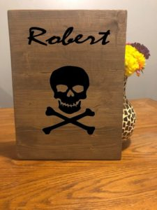 Skull Sign Customized Name Sign Decor, Raven Skull, Buffalo Skull, Halloween Skull, Human Skull, Warning Sign, Do Not Enter, Scary Skull