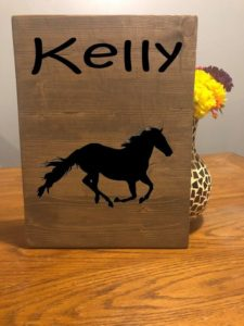 Horse Lover Custom Name Sign, Horse Decor, Farm Decor, Horse Art, Horse Gift, Horse Lover, Horse Picture, Horse Wall Art, Cowboy – Cowgirl