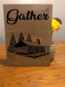 Custom Gather Family Wood Sign, Cabin Sign, Camping Sign, Family Home Decor, Large Gather Sign, Rustic Gather Sign Decor, Farmhouse Gather