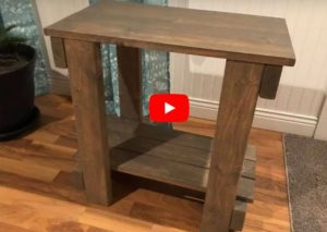 How To Build A Entryway Table – End Table – Build A Rustic Table DIY