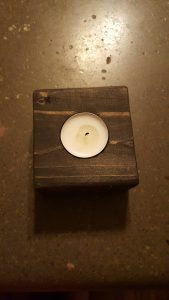 Wooden Block Candle Holders
