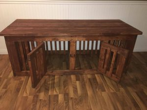 Double Dog Kennel/Crate Furniture