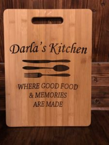 Customized Laser Engraved Cutting Board