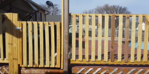 My Cheap Deck Railing With Gate That I Made From Scratch!