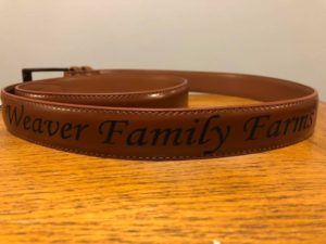 Custom Engraved Mens Leather Belt