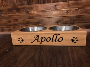 Custom Dog/Cat Pet Food & Water Bowl