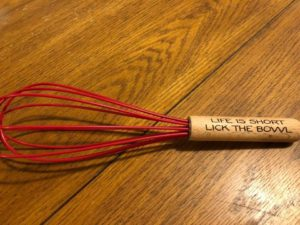 Laser Engraved Custom Cooking Whisk