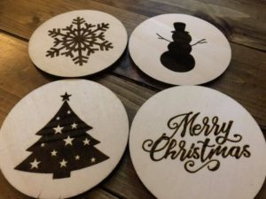Laser Burned Custom Drink Coasters