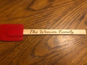 Custom Engraved Spatula Whipper Utensil