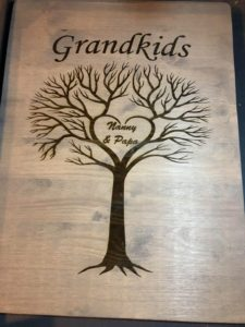 Grandkids Family Tree Wood Sign, Wall Art Decor Sign, Grandchild Tree, Grandparents Family Name Sign, Gift For Grandma, Gift For Grandpa