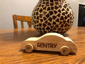 Engraved Small Wood Car