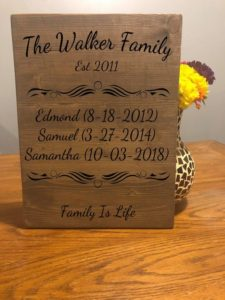 Our Family Story Rustic Sign, Customized Family Sign, Engraved Family Wood Sign, Housewarming Gift, Our Love Story, Important Dates