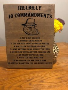 Hillbilly 10 Commandments Wood Sign, Redneck 10 commandments, Country Folk Commandments, Hillbilly Rules Of Life, 10 Commandments, Funny Sign