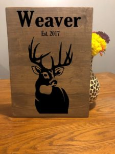 Deer Hunting Custom Sign, Rustic Personalized Wooden Sign Wooden Plaque Home Decor, Hunter Sign, Farm House Sign, Hunting Gift for men