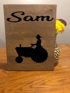 Farmer Custom Name Sign, Farmhouse Tractor Personalized Wooden Sign Decor, Farmers Market Sign, Farm, Farmhouse Decor, God Made A Farmer Sam