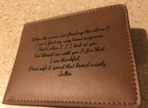 Graduation Gift Personal Wallet, Custom engraved wallet, personal gift for dad, wallet, Christmas Gift Wallet, hunting gifts for men