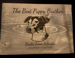 """The Best Puppy Brother"" in memory of dog sign customized"