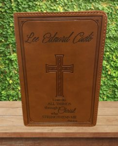 """I Can Do All Things Through Christ"" Custom Bible"