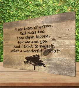 """What A Wonderful World"" Song Quoted Custom Sign"