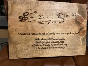 Music Lyrics Custom Sign