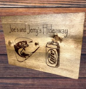 Beer & Fishing Hideaway Custom Man Cave Sign